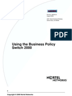 Using the Business Policy Switch 2000