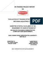 Evaluation of Training Effectiveness in Britania (1)