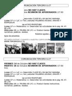 COMUNICACIÓN jueves 13 de Octubre 2011