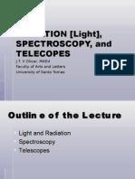 15. RADIATION, SPECTROSCOPY and TELESCOPES