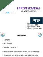 Enron Scandal - MCS Perspective