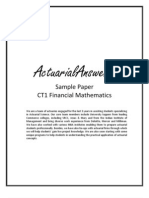 Actuarial CT1 Financial Mathematics Sample Paper 2011