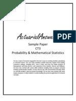 Actuarial CT3 Probability & Mathematical Statistics Sample Paper 2011