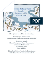 Uptowne Holiday Stroll Flyer