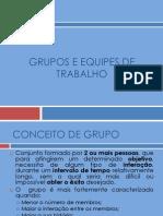 Grupos e Equipes de Trabalho