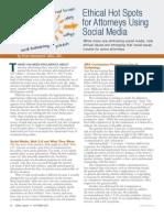 Social Media Ethical Hot Spots