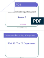 ITM Lecture 7
