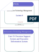 ITM Lecture 6