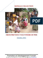 Testimonials Collection From Previous Volunteers of PDH