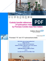 Custody Transfer References Promass