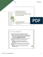 Jurisprudencia y prudencia judial el análisis económico del lucro cesante