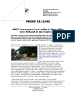 AiNET Commences Construction of Metro Fiber Optic Network in Washington DC