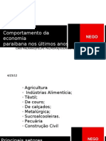 Apresentação Economia Paraibana