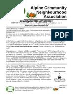 ACNA Newsletter - Oct 2011