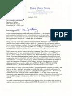 Sen. Carper's Letter to Defense Sec. Panetta on DOD Financial Accountability