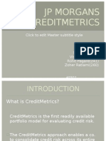 JP MORGAN'S creditMETRICS