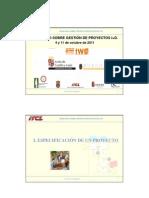 """Seminario """"Gestión de proyectos I+D y trabajo en Equipo""""_Resumen_ITCL"""