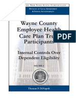 NYS Comptroller -- Wayne Cty. Healthcare Eligibility