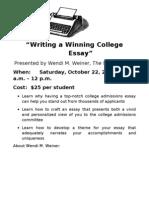 Writing a Winning College EssayOct22[1]