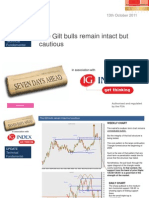 The Gilt Bulls Remain Intact but Cautious 13th October 2011(m)