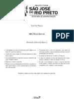 Prova Concurso Rio Preto 2011 Professor