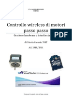 Controllo Wireless Di Motori Stepper