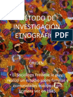 MÉTODO DE INVESTIGACIÓN ETNOGRÁFICO