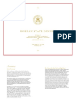 Korean State Dinner Program