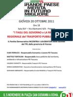 """""""I TAGLI DEL GOVERNO e LA RIFORMA REGIONALE del TRASPORTO PUBBLICO LOCALE"""""""