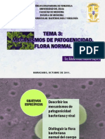 Tema 3 Mecanismos de Patogenicidad y Flora Normal