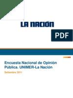 Encuesta Unimer-La Nación