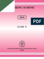 Marking Scheme 2010 Class X Book
