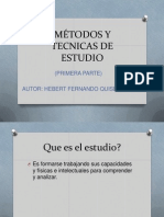 MÉTODOS Y TECNICAS DE ESTUDIO HEBERT FERNANDO QUISBERT CORINA