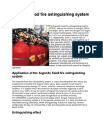 Argonite Fixed Fire Extinguishing System