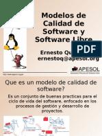 Modelos de Calidad y Software Libre
