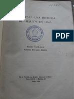 Emilio HarthTerré Nota para una historia del balcón en Lima