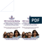 HSC community meeting hosted by Coburg primary School x2