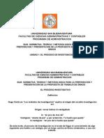 MetInv- Unidad 1- El Proceso Investigación- Presentación