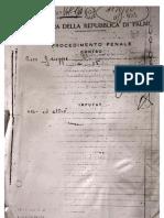 Tribunale di Palmi, Processo per l'omicidio di Giuseppe Valarioti. Rapporto dei Carabinieri