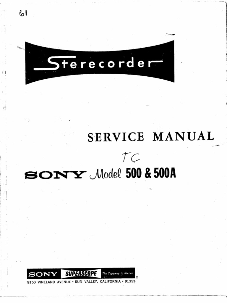 Sony Tc 500a Wiring Diagram Electrical Diagrams Enthusiast U2022 Rh Rasalibre Co Harness Colors Stereo