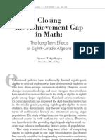 Closing the Achievement Gap in Math