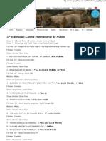 Clube Português de Canicultura 3.ª Exposição Canina Internacional de Aveiro