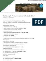Clube Português de Canicultura 60.ª Exposição Canina Internacional da Costa do Estoril