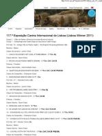 Clube Português de Canicultura 117.ª Exposição Canina Internacional de Lisboa (Lisboa Winner 2011)
