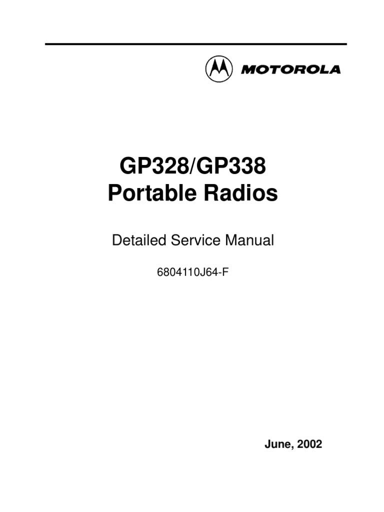 motorola gp328 338 service manual