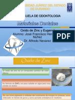 Oxido de Zinc y Eugenol