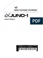 Alpha Juno 1 Owners Manual