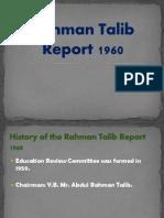 Rahman Talib Report 1960 Power Point