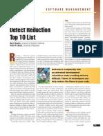 Software Defect Reduction - Top10 List