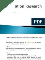 Marketing Management Presentation - Observation Research
